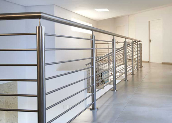 China Easy Installation Stainless Steel Railing With Brushed / Mirror Surface Treatments supplier