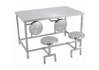China Random Pattern Stainless Steel Dining Table And Chairs Any Size Available supplier