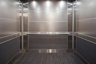 China Metallic Luster Stainless Steel Elevator Panels Strong Reflection Sound Insulation supplier